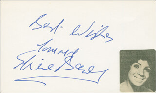 SHIRLEY BASSEY - AUTOGRAPH NOTE SIGNED