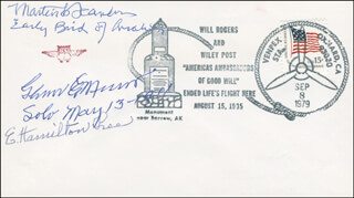 BRIGADIER GENERAL MARTIN F. SCANLON - COMMEMORATIVE ENVELOPE SIGNED CO-SIGNED BY: E. HAMILTON LEE, GLENN MESSER