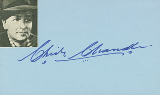 CHICK CHANDLER - AUTOGRAPH
