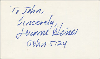 JEROME HINES - AUTOGRAPH NOTE SIGNED