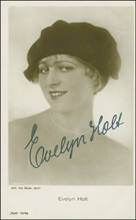 EVELYN HOLT - PICTURE POST CARD SIGNED