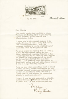 FIRST LADY LADY BIRD JOHNSON - TYPED LETTER SIGNED 05/28/1980
