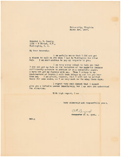 Autographs: REAR ADMIRAL RICHARD E. BYRD - TYPED LETTER SIGNED 03/01/1927
