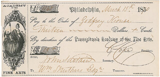JOHN SARTAIN - PROMISSORY NOTE SIGNED 03/15/1870 CO-SIGNED BY: CALEB COPE