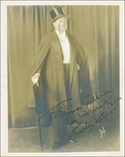 CHARLES HACKETT - AUTOGRAPHED INSCRIBED PHOTOGRAPH