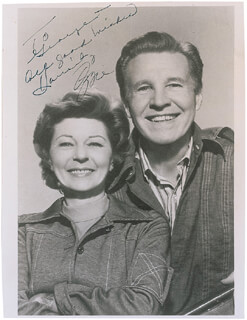 OZZIE & HARRIETT TV CAST - AUTOGRAPHED INSCRIBED PHOTOGRAPH CO-SIGNED BY: HARRIET HILLIARD NELSON, OZZIE NELSON