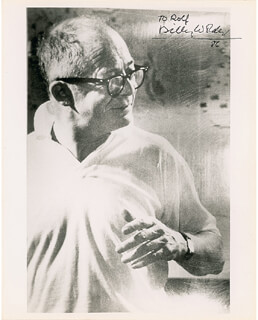 BILLY WILDER - AUTOGRAPHED INSCRIBED PHOTOGRAPH 1986