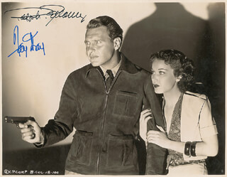 ROAMING LADY MOVIE CAST - AUTOGRAPHED SIGNED PHOTOGRAPH CO-SIGNED BY: FAY WRAY, RALPH BELLAMY