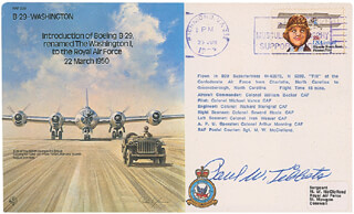 ENOLA GAY CREW (PAUL W. TIBBETS) - COMMEMORATIVE CACHET SIGNED