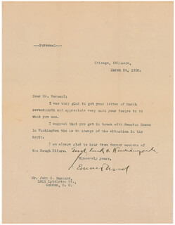 LT. GENERAL LEONARD WOOD - TYPED LETTER SIGNED 03/24/1920
