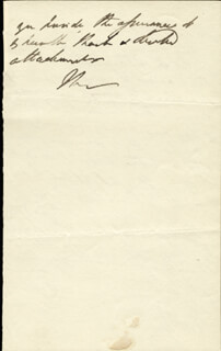 DUKE (ARTHUR WELLESLEY) OF WELLINGTON (GREAT BRITIAN) - AUTOGRAPH LETTER SIGNED