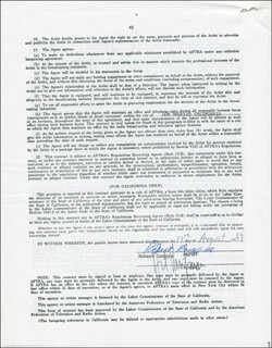 ROBERT LOGGIA - CONTRACT SIGNED 08/17/1989