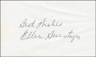 ELLEN BURSTYN - AUTOGRAPH SENTIMENT SIGNED