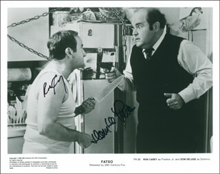 FATSO MOVIE CAST - AUTOGRAPHED SIGNED PHOTOGRAPH CO-SIGNED BY: RON CAREY, DOM DELUISE
