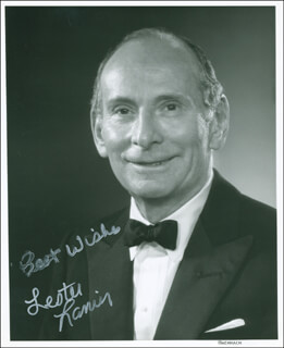 LESTER LANIN - AUTOGRAPHED SIGNED PHOTOGRAPH