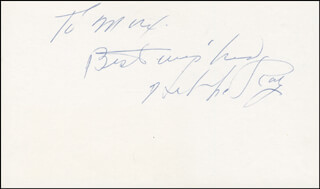 HAL LE ROY - AUTOGRAPH NOTE SIGNED
