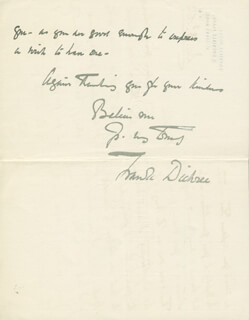 FRANK DICKSEE - AUTOGRAPH LETTER SIGNED 12/03/1904