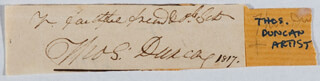 THOMAS DUNCAN - AUTOGRAPH SENTIMENT SIGNED 1817