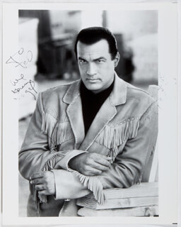 STEVEN SEAGAL - AUTOGRAPHED INSCRIBED PHOTOGRAPH