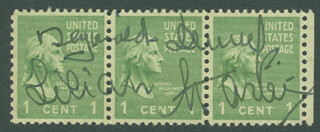 REGINALD DENNY - STAMP(S) SIGNED CO-SIGNED BY: LILIAN HARVEY
