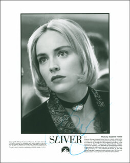 SHARON STONE - AUTOGRAPHED SIGNED PHOTOGRAPH