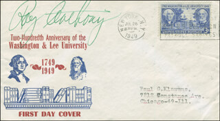 Autographs: RAY ANTHONY - FIRST DAY COVER SIGNED