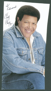 CHUBBY THE TWIST KING CHECKER - AUTOGRAPHED INSCRIBED PHOTOGRAPH