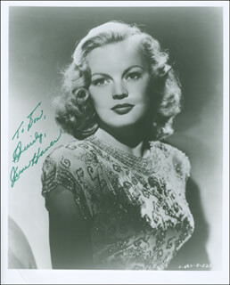 JUNE HAVER - AUTOGRAPHED INSCRIBED PHOTOGRAPH