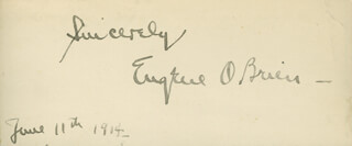 EUGENE O'BRIEN - AUTOGRAPH SENTIMENT SIGNED 06/11/1914