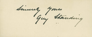 Autographs: SIR GUY STANDING - AUTOGRAPH SENTIMENT SIGNED