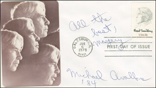 MICHAEL AVALLONE - FIRST DAY COVER WITH AUTOGRAPH SENTIMENT SIGNED 1984