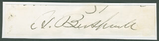 Autographs: HORACE BUSHNELL - CLIPPED SIGNATURE
