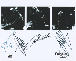 CAROLINA LIAR - AUTOGRAPHED SIGNED PHOTOGRAPH CO-SIGNED BY: CHAD WOLF, RICKARD GORANSSON, JOHAN CARLSSON, PETER CARLSSON