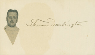 Autographs: THOMAS DARLINGTON - SIGNATURE(S)