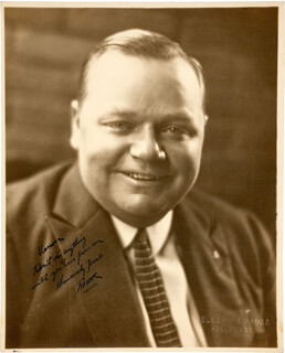 Autographs: ROSCOE FATTY ARBUCKLE - INSCRIBED PHOTOGRAPH SIGNED