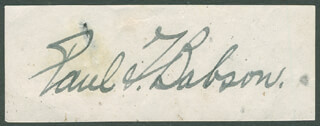 Autographs: PAUL T. BABSON - SIGNATURE(S)