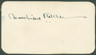 SIR MURCHISON FLETCHER - AUTOGRAPH
