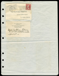 Autographs: IDAH McGLONE GIBSON - PRINTED CARD SIGNED IN INK 04/14/1921