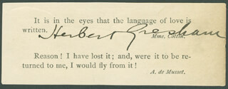 HERBERT GRESHAM - QUOTATION SIGNED CO-SIGNED BY: EUGENE F. KERNAN