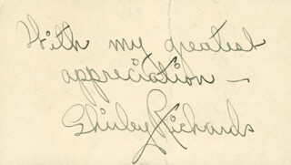 ANN RICHARDS - AUTOGRAPH SENTIMENT SIGNED