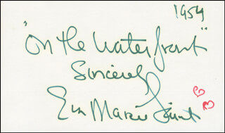 EVA MARIE SAINT - AUTOGRAPH SENTIMENT SIGNED