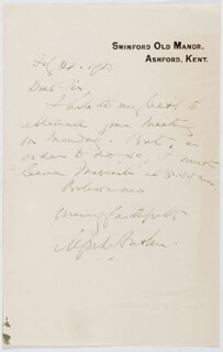 ALFRED AUSTIN - AUTOGRAPH LETTER SIGNED 02/21/1905