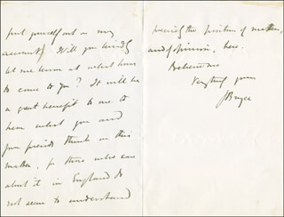 Autographs: JAMES (1ST VISCOUNT BRYCE) BRYCE (BRITAIN) - AUTOGRAPH LETTER SIGNED 12/28