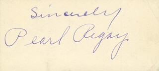 PEARL REGAY - AUTOGRAPH SENTIMENT SIGNED