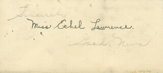 ETHEL LAWRENCE - AUTOGRAPH