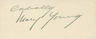 MARY YOUNG - AUTOGRAPH SENTIMENT SIGNED