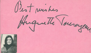 HUGUETTE TOURAGEAU - AUTOGRAPH SENTIMENT SIGNED