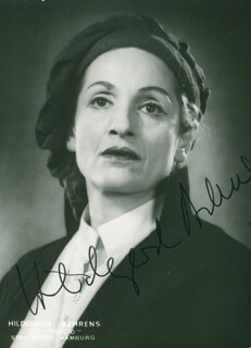 HILDEGARD BEHRENS - AUTOGRAPHED SIGNED PHOTOGRAPH