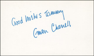 GWEN CHERELL - AUTOGRAPH NOTE SIGNED