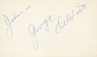 GEORGE DeWITT - INSCRIBED SIGNATURE